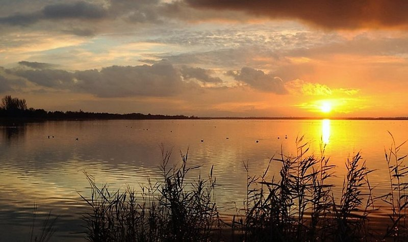 solnedgång på Wolderwijd