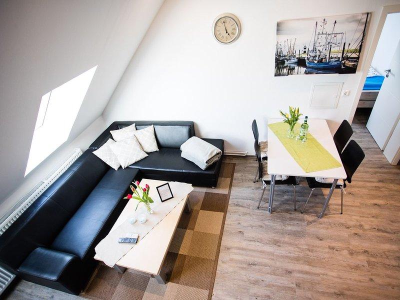 Modern, bright duplex apartment, just a few minutes to the beach, quiet location, alquiler vacacional en Wurster Nordseeküste
