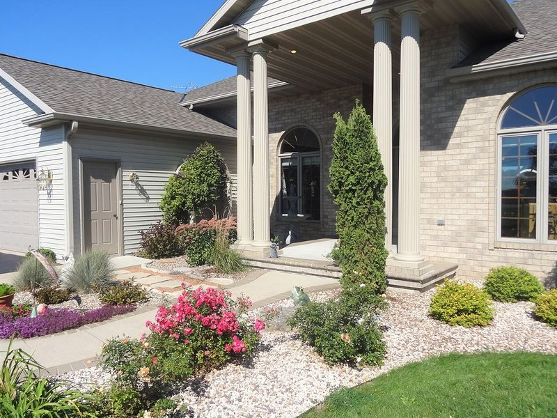 Front Entrance With Outdoor Seating