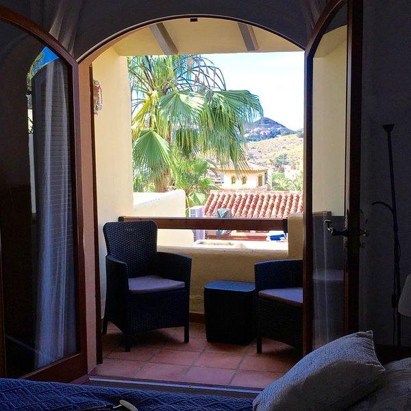 terrass utanför sovrummet