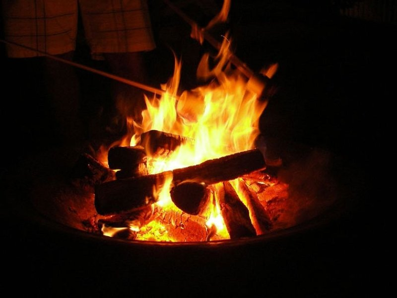 S'mores at the fire pit is a must!