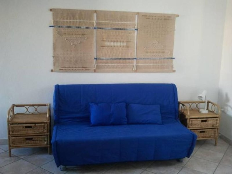 interior with sofa bed
