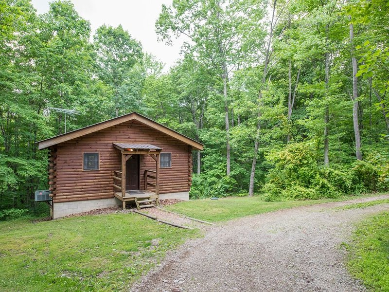 Cozy pet friendly cabin on 80 acres close to Old Mans Cave, Rock House, and Conk, aluguéis de temporada em South Bloomingville