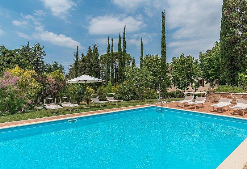 Villa Alba, rimborso completo con voucher*: Un'incantevole villa su due piani si, casa vacanza a Asciano