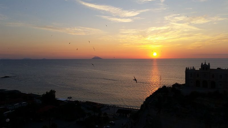 fabulous sunsets with the Stromboli in the background