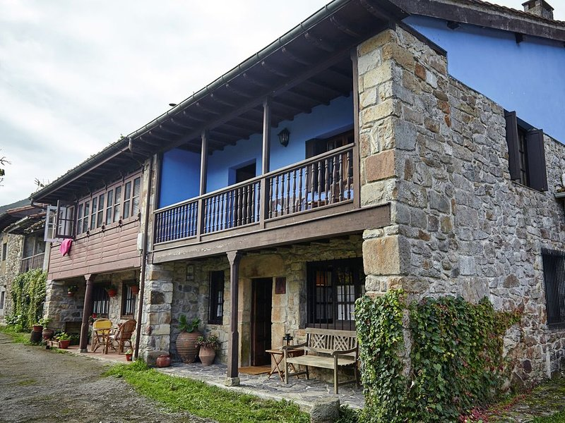Beautiful country house with stunning views of the mountains of Asturias, location de vacances à Villamorey