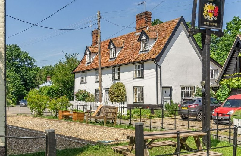 The village pub is just metres away from Holly Cottage's front door