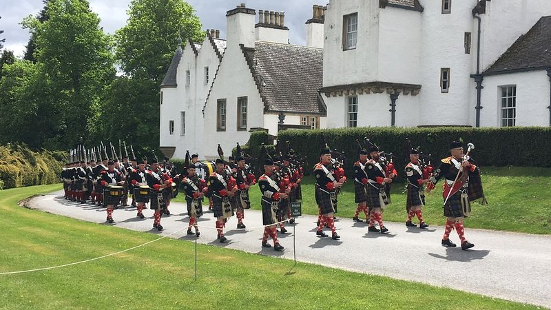 Atholl Highlanders Marching at Blair Castle