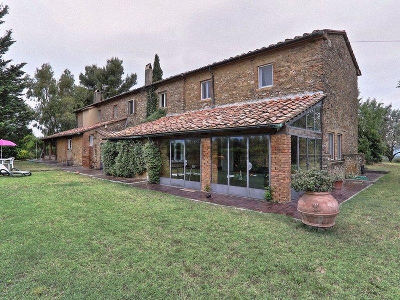 Agriturismo Il Polveraio Casa Villa - Collina Toscana con vista sul mare, holiday rental in Montescudaio