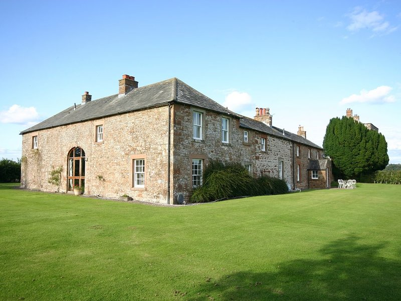 The house from the lawn