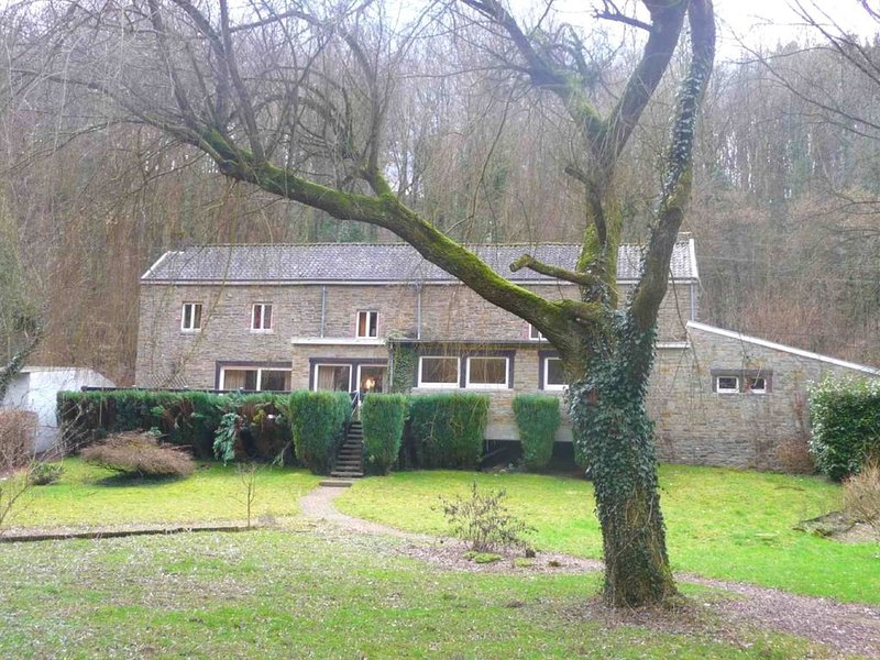 Family holiday home with beautiful garden beside the Ourthe and the RAVeL., location de vacances à Anthisnes