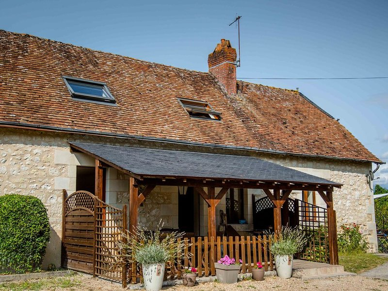 Nicely renovated former farm building with heated pool in the Loire Valley, holiday rental in Continvoir