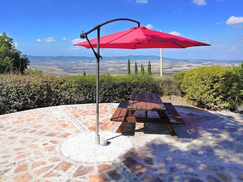 Terrazza con ombrellone