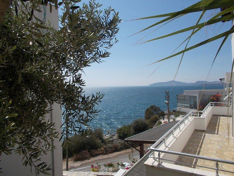 Appartement mit grosser Terasse direkt am Meer !, holiday rental in Kiyikislacik