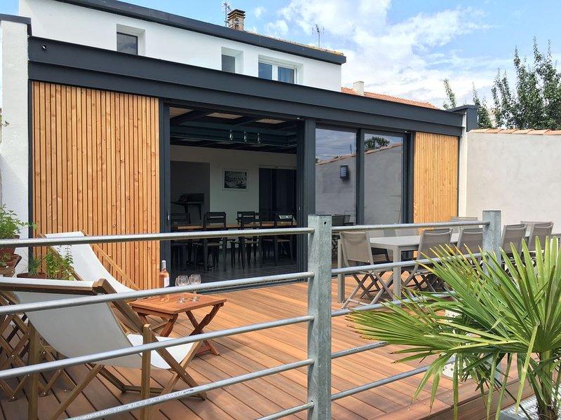 Jolie villa contemporaine face au plan d'eau, location de vacances à L'Aiguillon-sur-Mer