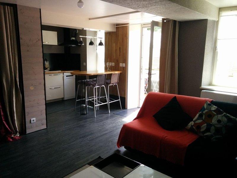 Grand studio ensoleillé plein de charme en centre ville . – semesterbostad i Caen