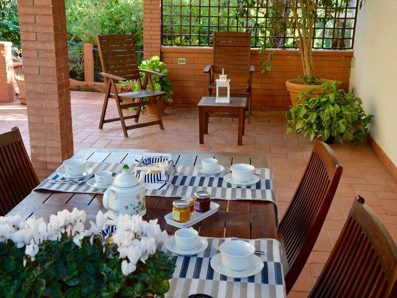 Appartamento in villa 'Alle falde', alquiler de vacaciones en Belmonte Mezzagno