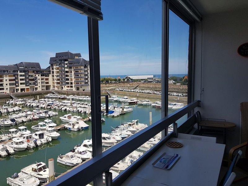 La Marina  vue Mer et Port Normandie,Appartement 4 personnes, location de vacances à Ver-sur-Mer