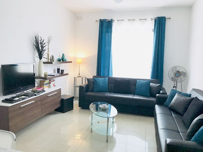 Bright and spacious living area