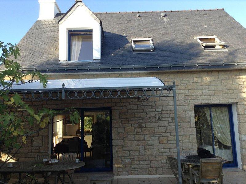 back facade and terrace