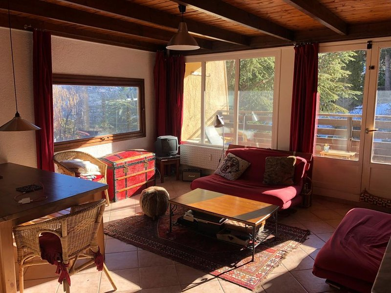 Pra Loup 1600 : Appartement familial 2 chambres, belle vue, terrasse plein sud, holiday rental in Uvernet-Fours