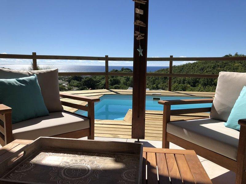 VILLA 4 CHAMBRES AVEC SUPERBE VUE MER, holiday rental in Le Diamant