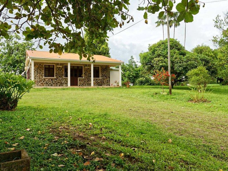 Maison familiale, au coeur de la Martinique, location de vacances à Gros-Morne