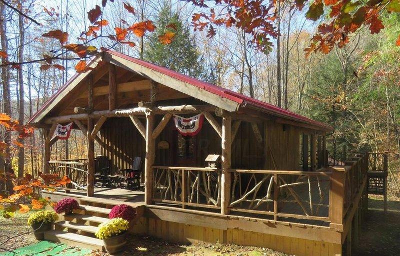 Luxury Cabin Rental in Hocking Hills, holiday rental in Rockbridge
