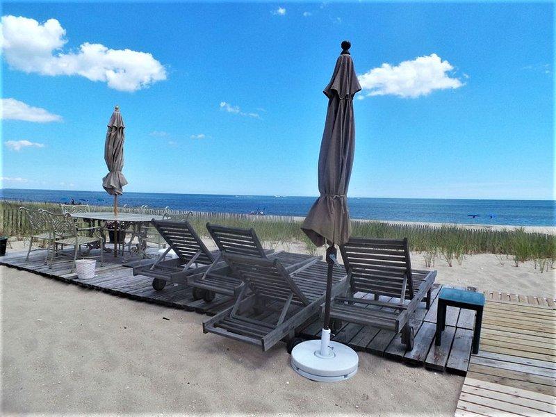 Segunda terraza frente al mar