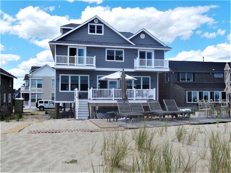 Casa de playa vista desde las dunas