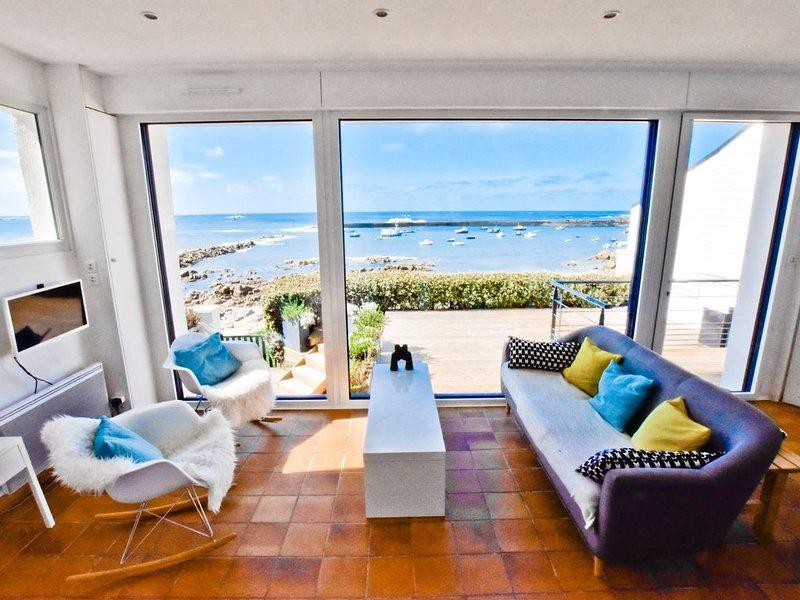 Tête-à-tête avec la grande bleue, accès direct à la plage depuis la terrasse, casa vacanza a Plouescat