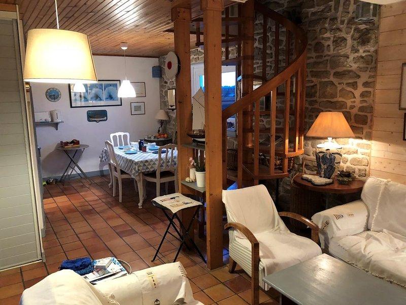 Maison de pêcheur 6 couchages à la Trinité sur Mer, location de vacances à La Trinite-sur-Mer