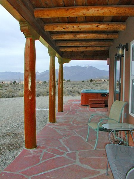 West facing portal for magnificent Taos sunsets