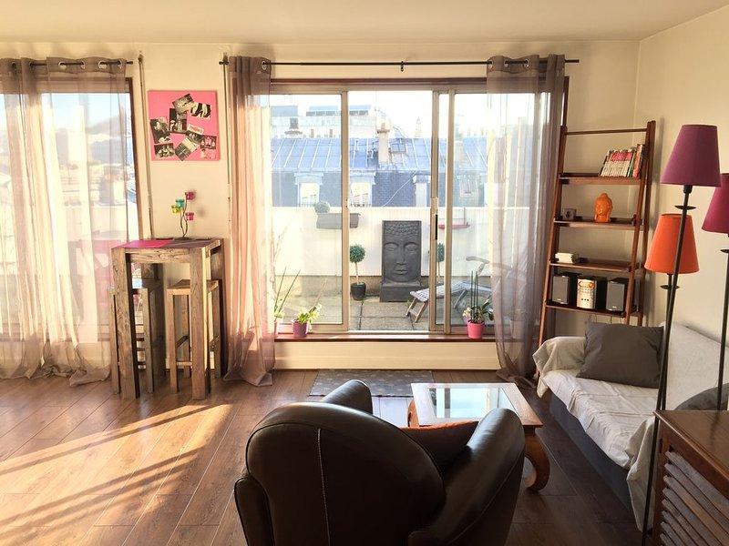 Studio avec grande terrasse  / quartier Haussmann - Opéra, holiday rental in Paris