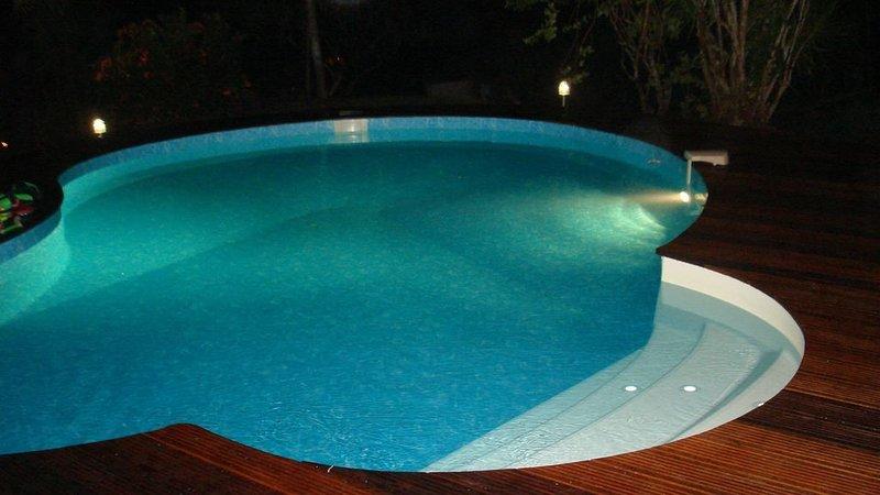 Eclairage de la piscine