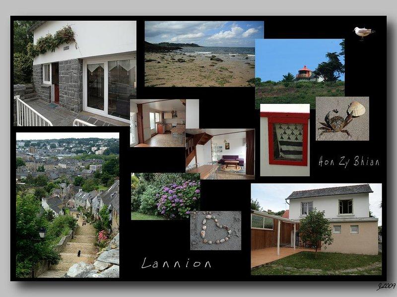 Belle maison dans un grand jardin arboré à Lannion, vacation rental in Lannion