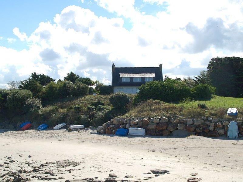 Villa 6 personnes, sur la plage, Sauna, location de vacances à Santec