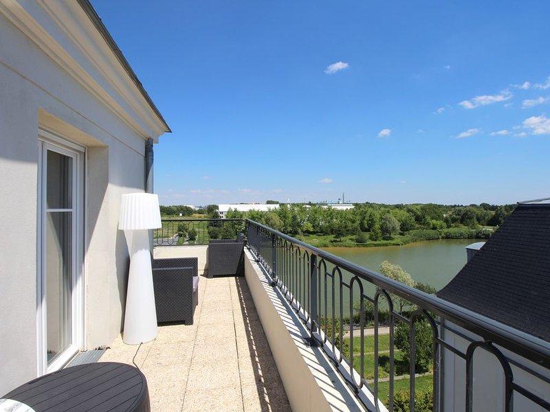 Appartement 10 pax vue lac et Disneyland Paris (HONORE1), alquiler de vacaciones en Coupvray