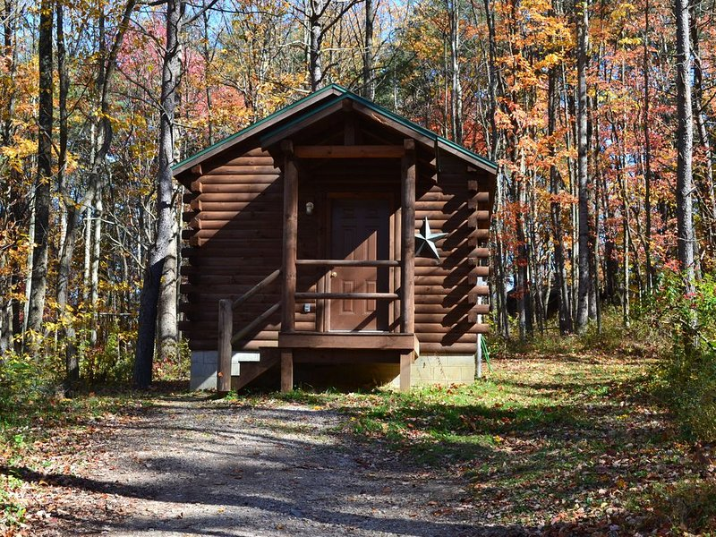 Comfy little couples cabin in the woods of Hocking Hills with a hot tub!, vacation rental in Logan