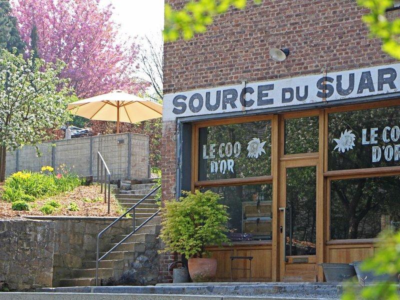 Source du Suary gîte Menthinette 2 chambres 2 salles de bain privatives, location de vacances à Namur