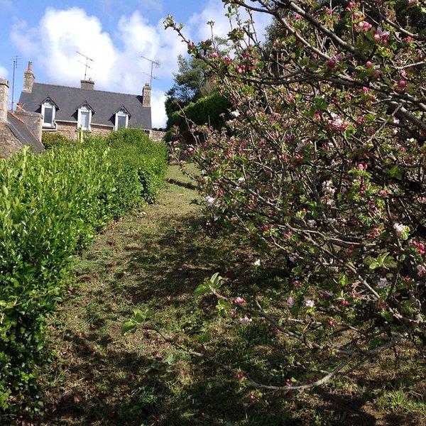 maison bretonne surplombant une vallée. En face de la maison le sentier Gr 34, vacation rental in Ploumilliau