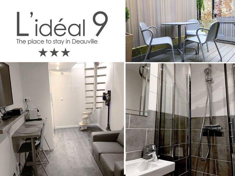 L'IDEAL 9 : Maisonnette + Terrasse (Place Morny à 50m), aluguéis de temporada em Deauville