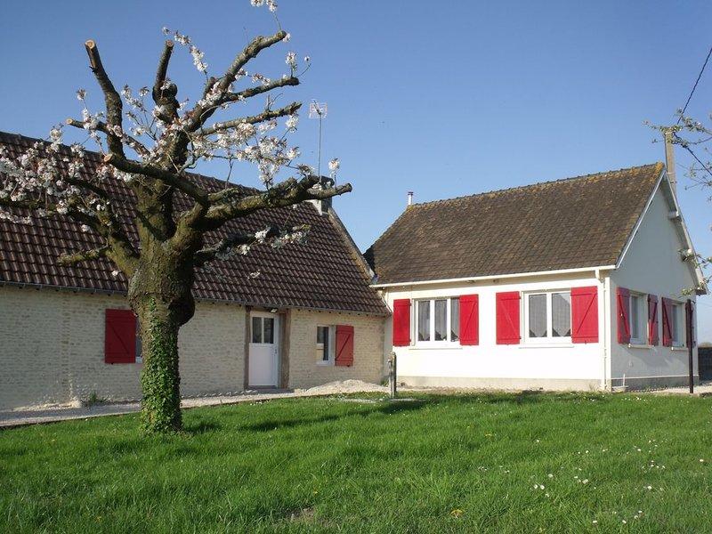 Maison  à 5 mn de Cabourg au coeur du marais de Varaville, location de vacances à Dozulé