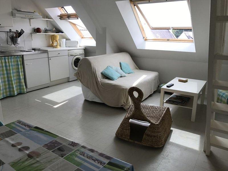 Appartement récent très lumineux, 100m mer, vue sur port de plaisance, holiday rental in Lanester