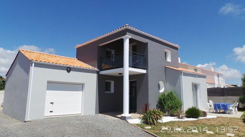 maison bretignolles vue mer a 100m de la plage et des dunes, aluguéis de temporada em Bretignolles Sur Mer