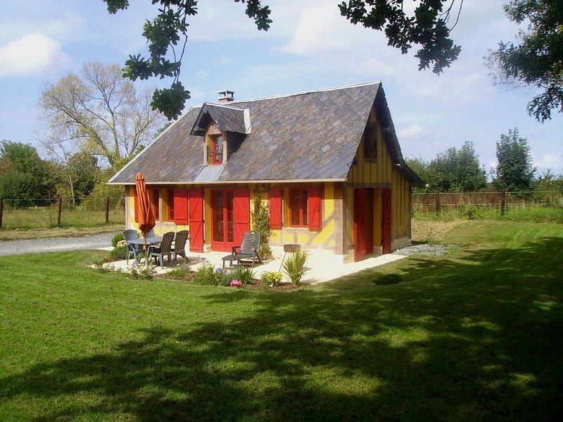 Gite dans le calme de la campagne du pays d'auge., location de vacances à Saint-Loup-de-Fribois