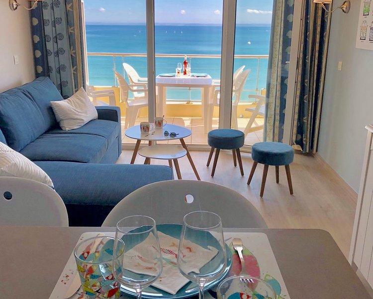 Appartement T3 avec vue spectaculaire sur l'océan – semesterbostad i Crozon