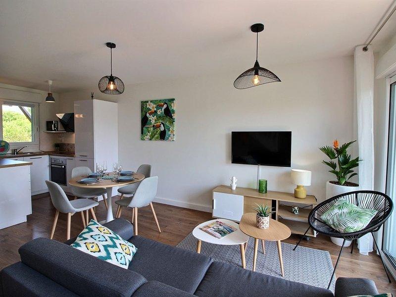 Maison 4 personnes au calme dans domaine privé avec piscine - prox golf et plage, location de vacances à Saint-Alban