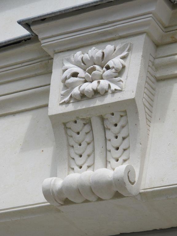 detail of the stone tufa facade