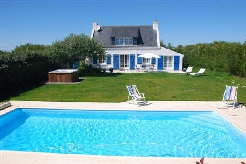 Maison,Cote Sauvage,PISCINE Chauffée,SPA,prestations de qualité, location de vacances à Belle-Ile-en-Mer